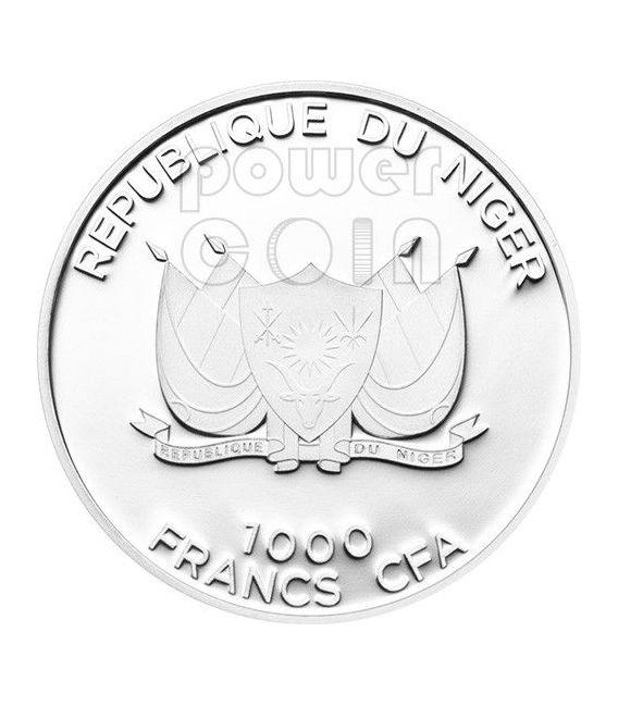 COYOTE AMERICANO American Jackal Predator Hunters Moneta Argento 1000 Franchi Niger 2013