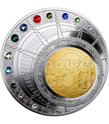MAGIC YEAR OF HAPPINESS Swarovski Silver Coin 400g 100$ Niue 2013