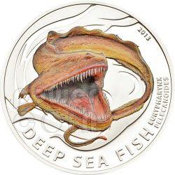 PELICAN EEL Eurypharynx pelecanoides Deep Sea Fish Moneda Plata 2$ Pitcairn Islands 2013