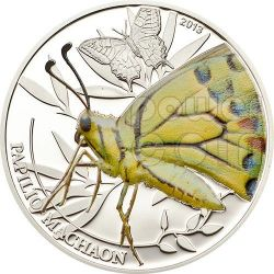 BUTTERFLY World Of Insects Moneda Plata 2$ Palau 2013