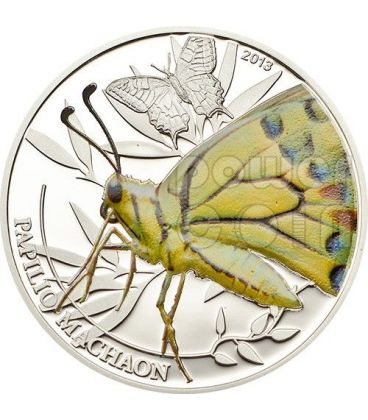BUTTERFLY World Of Insects Silver Coin 2$ Palau 2013