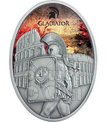 GLADIATORE Impero Romano Provocatore Moneta Argento 1 Oz 10$ Fiji 2013