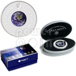 SPUTNIK 50 Anniversario Moneta Argento 1$ Cook Islands 2007