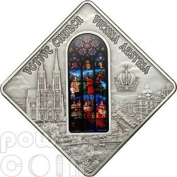 VOTIVE CHURCH Vienna Holy Windows Moneda Plata 10$ Palau 2012
