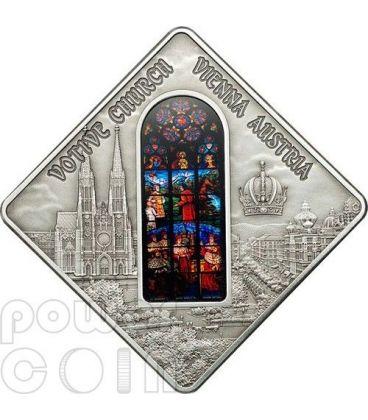 CHIESA VOTIVA Votive Church Vienna Holy Windows Moneta Argento 10$ Palau 2012