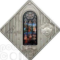 VOTIVE CHURCH Vienna Holy Windows Silber Münze 10$ Palau 2012