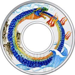 SERPENTE INFINITO Infinity Snake Moneta Argento 2 Oz 10$ Tokelau 2013