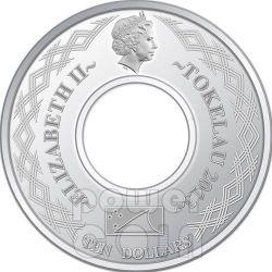 INFINITY SNAKE Lunar Year 2 Oz Moneda Plata 10$ Tokelau 2013