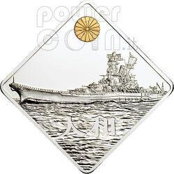 YAMATO Battleship 2 Oz Moneda Plata 10$ Palau 2008