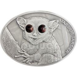 MAKI Spectral Tarsier Fascinating Wildlife Silver Coin 10$ Fiji 2013