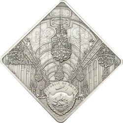 VERSAILLES Hall Of Mirrors Moneda Plata 10$ Palau 2013