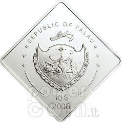 YAMATO Battleship 2 Oz Серебро Монета 10$ Палау 2008