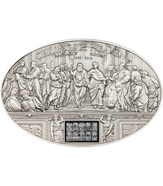 NANO RAPHAEL ROOMS Ceilings of Heaven Silver Coin 5$ Cook Islands 2013