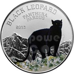BLACK LEOPARD Black Beauties Moneda Plata 1000 Francs Congo 2013