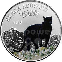 BLACK LEOPARD Black Beauties Silver Coin 1000 Francs Congo 2013