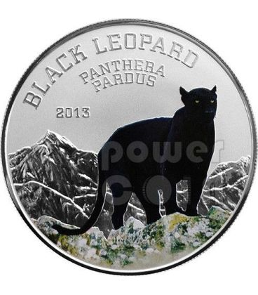 PANTERA NERA Black Leopard Black Beauties Moneta Argento 1000 Franchi Congo 2013