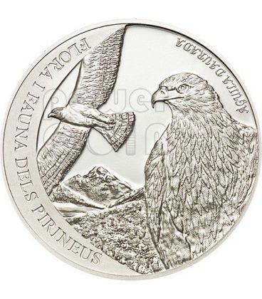 GOLDEN EAGLE Pyrenees Wildlife Silver Coin 5D Andorra 2011