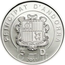 GOLDEN EAGLE Pyrenees Wildlife Moneda Plata 5D Andorra 2011