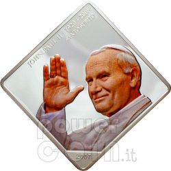 SANTO SUBITO Saluto Papa Giovanni Paolo II Moneta Argento 1$ Palau 2007