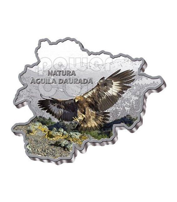 AQUILA REALE Golden Eagle Nature Treasure of Andorra Moneta Argento 10D Andorra 2013