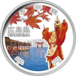 HIROSHIMA 47 Prefetture (27) Moneta Argento 1000 Yen Giappone 2013