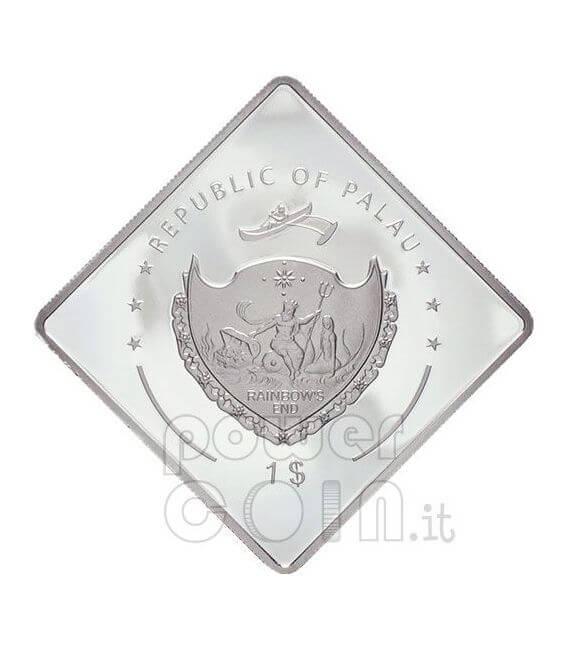 SANTO SUBITO Hand Pope John Paul II Moneda Plata 1$ Palau 2007