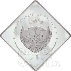 SANTO SUBITO Hand Pope John Paul II Silber Münze 1$ Palau 2007