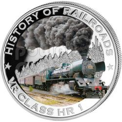 VR CLASS HR 1 Locomotiva Vapore Ferrovia Moneta Argento 5$ Liberia 2011