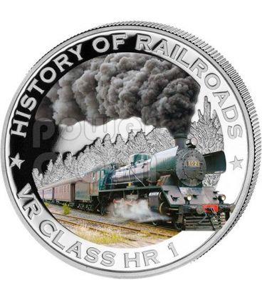 VR CLASS HR 1 History Of Railroads Train Silver Coin 5$ Liberia 2011