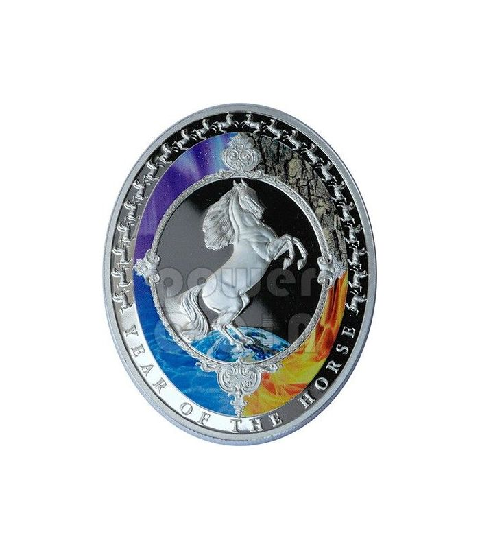 Horse Five Elements Lunar Year 1 Oz Silver Coin 2 Tokelau