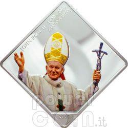 SANTO SUBITO Pope John Paul II Moneda Plata 5$ Liberia 2007
