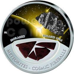METEORITE MORASKO Cosmic Fireballs Moneta Argento 10$ Fiji 2013