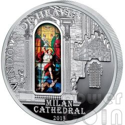 WINDOWS OF HEAVEN MILAN Milano Duomo Cathedral Silver Coin 10$ Cook Islands 2013