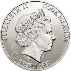 METEORITE CHELYABINSK Russia Silber Münze 5$ Cook Islands 2013