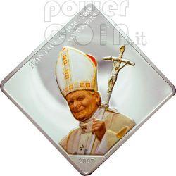 SANTO SUBITO Pope John Paul II Silver Coin 5 Fr Congo 2007