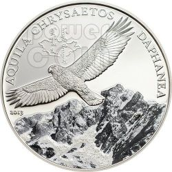 GOLDEN EAGLE Mongolian Wildlife Silver Coin 500 Togrog Mongolia 2013