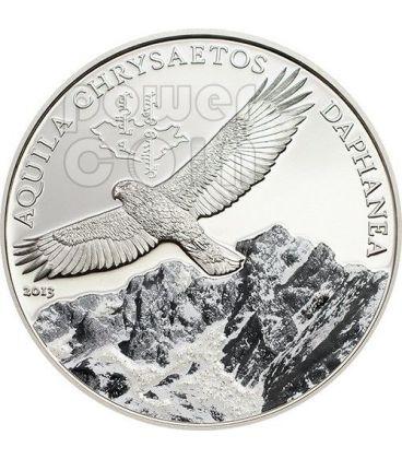 GOLDEN EAGLE Mongolian Wildlife Silver Coin 500 Togrog Mongolia 2013