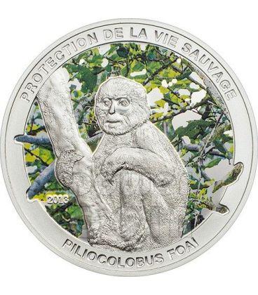 MONKEY Piliocolobus Foai Silver Coin 1000 Francs Central African Republic 2013