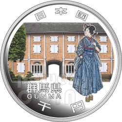 GUNMA 47 Prefetture (28) Moneta Argento 1000 Yen Giappone 2013