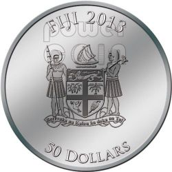 AKHENATEN Ekhnaton Egypt God Plata Palladium Oro Heliotrope Gemstone Moneda 2 Oz 50$ Fiji 2013