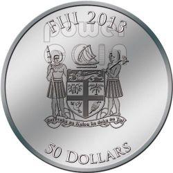 AKHENATEN Ekhnaton Egypt God Silber Palladium Gold Heliotrope Gemstone Münze 2 Oz 50$ Fiji 2013