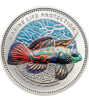 PESCE MANDARINO Mandarinfish Protezione Vita Marina Moneta 1$ Palau 2013