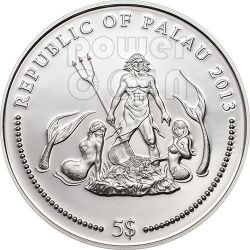 MANDARINFISH Marine Life Protection Серебро Монета 5$ Палау 2013