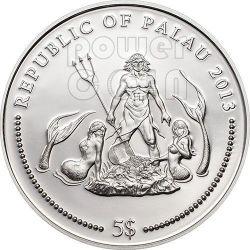 MANDARINFISH Marine Life Protection Silber Münze 5$ Palau 2013