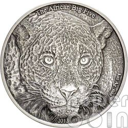 LEOPARD African Big Five 1 Oz Silver Coin 1000 Francs Cameroon 2013