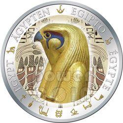 HORUS Gilded Egypt Silver Coin 1$ Fiji 2012