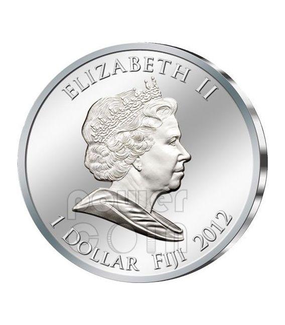 ISIDE ALATA Winged Isis Dorata Egitto Moneta Argento 1$ Fiji 2012