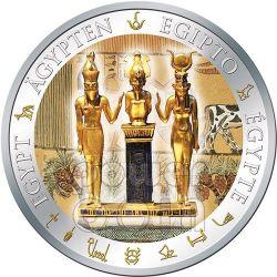 OSIRIDE Osiris Dorata Egitto Moneta Argento 1$ Fiji 2012