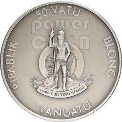 RACCOON Forest Animals Onyx Серебро Монета 1 oz 50 Вату Вануату 2013