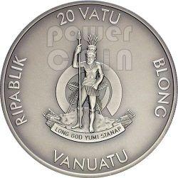RACCOON Forest Animals Серебро Монета 1/2 oz 20 Вату Вануату 2013